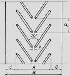 Шевронная лента (типа А) вариант профильного рисунка