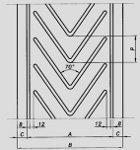 Лента шевронная вариант профильного рисунка 2