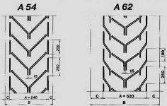 шевронная лента тип А размеры от 54 до 62
