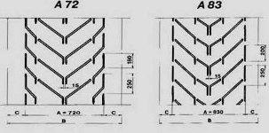 шевронная лента тип А размеры от 72 до 83