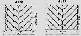 шевронная лента тип А размеры от 112 до 133