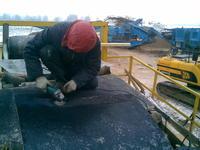 Снятие резинового покрытия